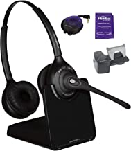 Plantronics CS520 Wireless Office Headset System Bundled with Lifter, Busy Light and Headset Advisor Wipe (Renewed)