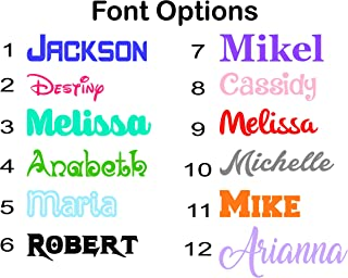 Custom Name Decals for Tumblers - Gloss Vinyl Sticker for Yeti Cups, Car Windows, Laptops - Font, Color, Size Options