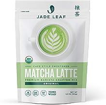 Jade Leaf Organic Matcha Latte Mix - Cafe Style Sweetened Blend - Sweet Matcha Green Tea Powder [5.3oz Pouch]