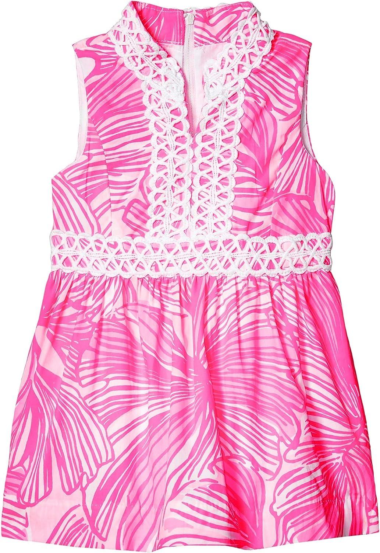 Lilly Pulitzer Kids Girl's Mini Franci Dress (Toddler/Little Kids/Big Kids) Prosecco Pink Fronds Place 14 Big Kids