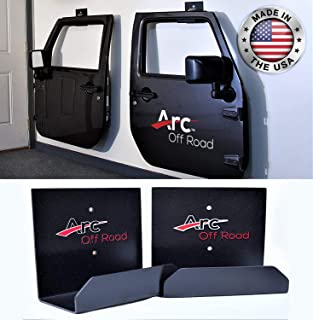 The Original, Arc Off Road, Window Channel, Jeep Door Hanger Bracket, 2 Door (2 hangers) For CJ, YJ, TJ, JK, JKU JL JT And The All New Gladiator