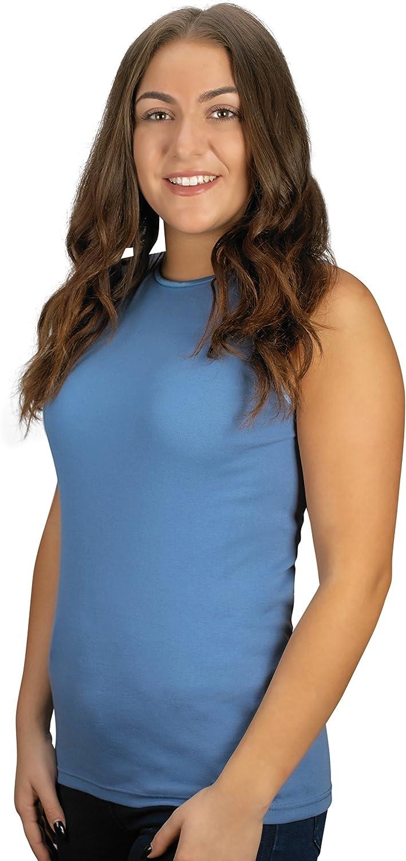 Rosette Women's Sleeveless Undershirt - Cotton – High Neck, Full shoulder design