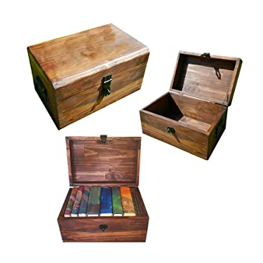 WIZARD Harry Potter Inspired Book and DVD Trunk with Free Golden Snicth Splat