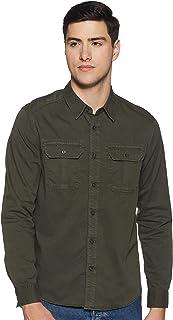 Calvin Klein Jeans Men's Gmd Twill Utility Reg Shirt Button