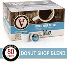 Victor Allen Donut Shop Blend for K-Cup Keurig 2.0 Brewers, 80 Count, Coffee Medium Roast Single Serve Coffee Pods
