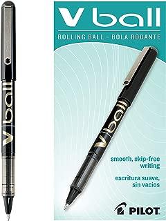 PILOT VBall Liquid Ink Rolling Ball Stick Pens, Fine Point, Black Ink, Dozen Box (35112)