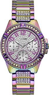 Women's Analog Watch with Stainless Steel Strap, Purple, 22 (Model: GW0044L1)