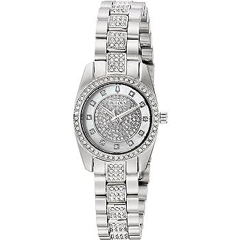 Bulova Women's Swarovski Crystal Quartz Watch with Stainless-Steel Strap, Silver, 12 (Model: 96L253)