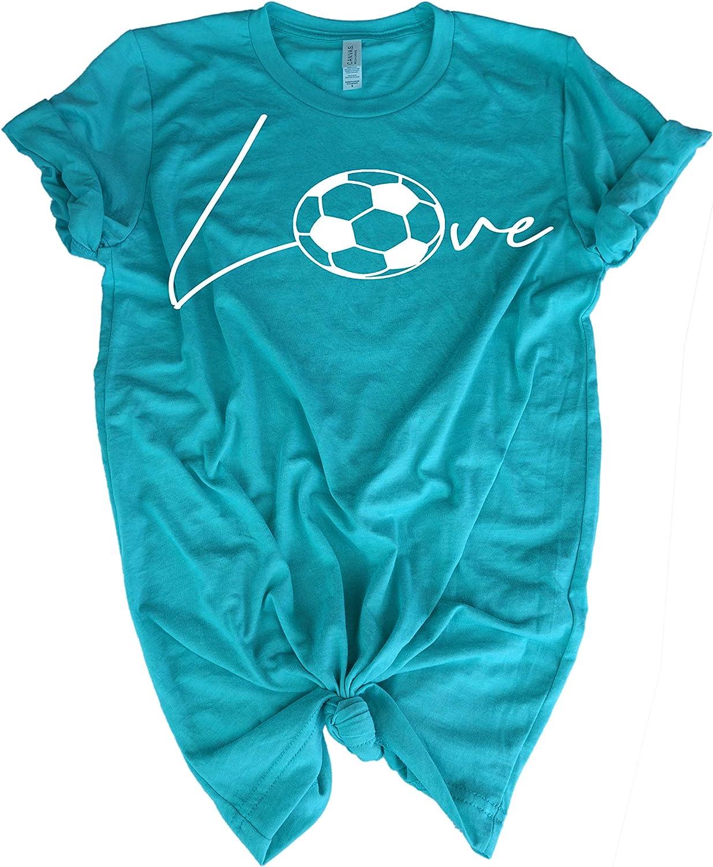Gift t-Shirt for Teen Girl Soccer Player Love Soccer Ball Soccer Tee Shirt