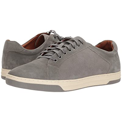 Johnston & Murphy Fenton Casual Dress Lace to Toe Sneaker (Gray Water-Resistant Suede) Men