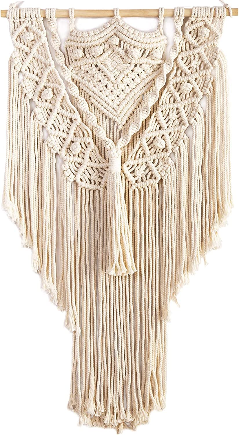 Macrame Wall Hanging Boho Home Tapestry-3 Decor Cotton Handwoven Super intense SALE Challenge the lowest price