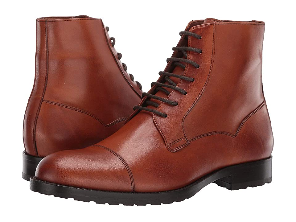Massimo Matteo 7-Eye Cap Boot (Burnished Brandy) Men