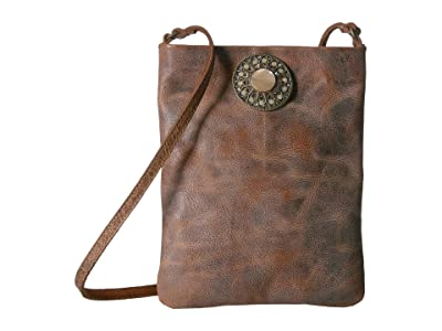 Leatherock Marla Cell Pouch (Cognac) Cross Body Handbags