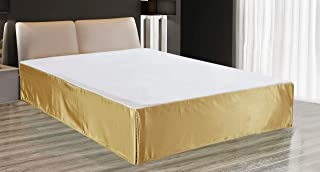EliteHomeProducts Super Soft & Silky Satin Bed Skirt with 14