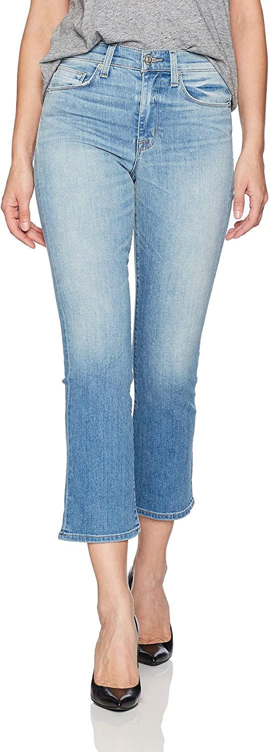 Hudson Jeans Womens Brixx High Rise Crop Flare 5 Pocket Jean in Vintage bluee Jeans