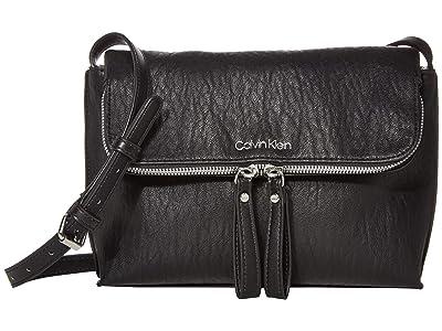 Calvin Klein Elaine Bubble Lamb Novelty Crossbody (Black/Silver) Cross Body Handbags