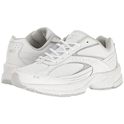 Ryka Comfort Walk (White/Grey/Silver) Women