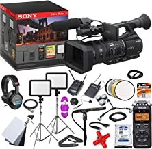 Sony HVR-Z5P Professional HDV PAL Camcorder - Advanced Video Maker Kit - Includes Pro Mic - LED Lights w/Stands - Headphones - Spare HDD - Wireless LAV System -