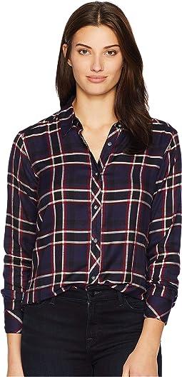 Woven Plaid Boyfriend Shirt
