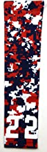 Sports Farm Custom Number Navy Blue Red White Digital Camo Arm Sleeve