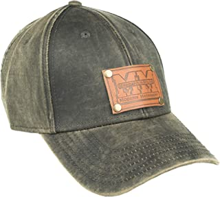J&D Productions Minneapolis Moline Tractor Leather Logo Hat, Oil Distressed Brown