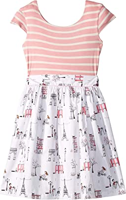 Maddy Café Pink Stripe Dress (Toddler/Little Kids/Big Kids)