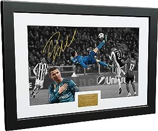 Cristiano Ronaldo 12x8 A4 Signed The Overhead Goal -Juventus 0 vs Real Madrid 3