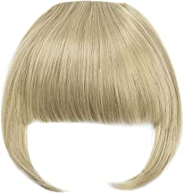Clip in Bangs Fringe Hair Extensions with Temples Synthetic Fashion Hair-pieces Ash Blonde Mix Bleach Blonde