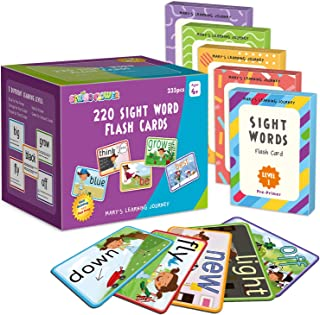 SpringFlower Sight Words Flash Cards with Pictures,Motions&Sentences, 220 Dolch Sight Words for Preschool, Kindergarten, 1...