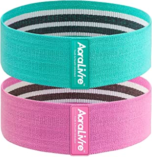 Aoralivre Fabric Resistance Bands for Legs/Butt/Glute/Squats Stretch Workout Exercise Booty Bands for Women Indoor Fitness