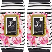 Beauty Concepts - Get Naked 2 Pack (60 Count Each) Coconut with Aloe Deep Cleansing Facial Wipes - Flip Top Pack