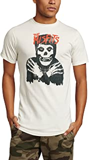 Impact Originals Impact Men's The Misfits Classic Skull Distressed Fitted Jersey T-shirt XXL, Antique White
