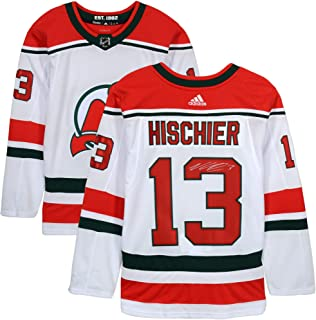 Nico Hischier New Jersey Devils Autographed White Alternate Adidas Authentic Jersey - Fanatics Authentic Certified