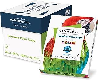 Hammermill Paper, Premium Color Copy Paper 8.5 x 11 Paper, Letter Size, 28lb Paper, 100 Bright, 6 Packs / 1,800 Sheets (102700C) Acid Free Paper, White