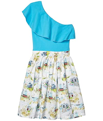 fiveloaves twofish California Girl Dress (Big Kids) (Aqua) Girl