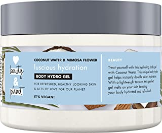 Love Beauty And Planet Vegan Body Moisturiser, Coconut Water and Mimosa Flower Hydration Hydro Gel for Women, 250ml