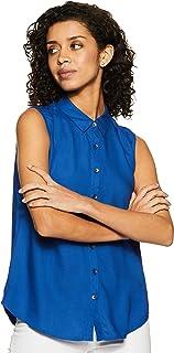 Amazon Brand - Symbol Women's Solid Regular Fit Shirt