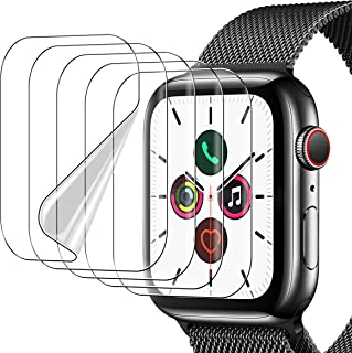 UniqueMe 5 Pack Protector de Pantalla Compatible con Apple Watch 44mm Series 6/5/4/ SE y Apple Watch Series 3/2/1 42mm,Sin...