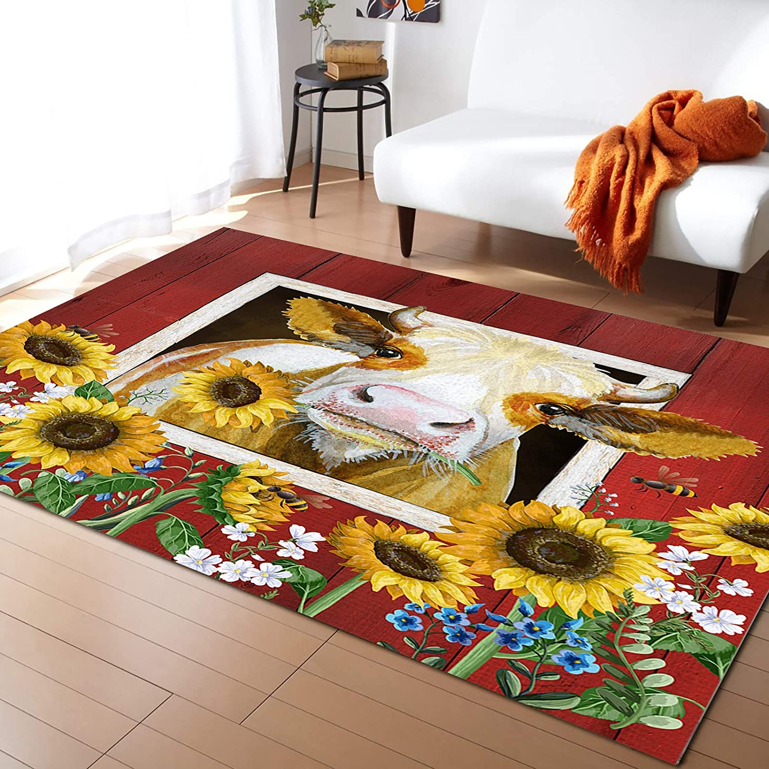 ARTSHOWING Farmhouse Area Rugs discount Max 73% OFF for Indoor Non-Slip Bedroom Outd
