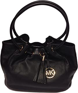 Ring Tote MD EW Black Leather