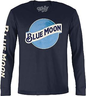 Tee Luv Blue Moon Long Sleeve T-Shirt - Blue Moon Beer Logo Shirt