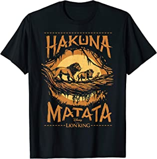 The Lion King Live Action Hakuna Matata Sunset Poster T-Shirt