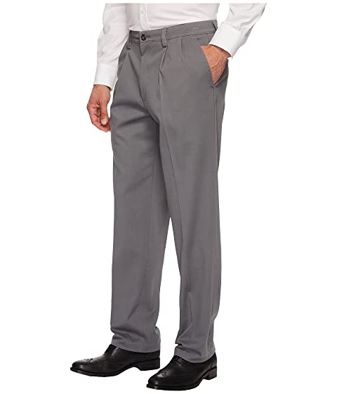 Classic Pantalones plisados gris Fit burma Khaki D3 Easy Dockers q64P6wIA