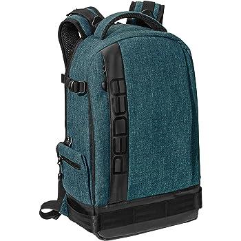 PEDEA DSLR-Kamerarucksack Fashion Fotorucksack für Spiegelreflexkameras mit wasserdichtem Regenschutz und Variabler Inneneinteilung (Rucksack, Petrol)