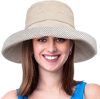 34e9b5c934d Womens Bucket Hat UV Sun Protection Packable Summer Travel Beach Cap