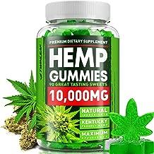 Hemp Gummies 10000MG – 111MG Hemp Oil per Gummy - Made in USA - Premium Hemp Extract Gummy Bears for Stress & Anxiety Relief - Effective Mood & Immune Support - Rich in Omega 3, 6, 9 & Vitamin E, B