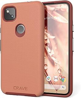 Crave Pixel 4a Case, Dual Guard Protection Series Case for Google Pixel 4a - Blush
