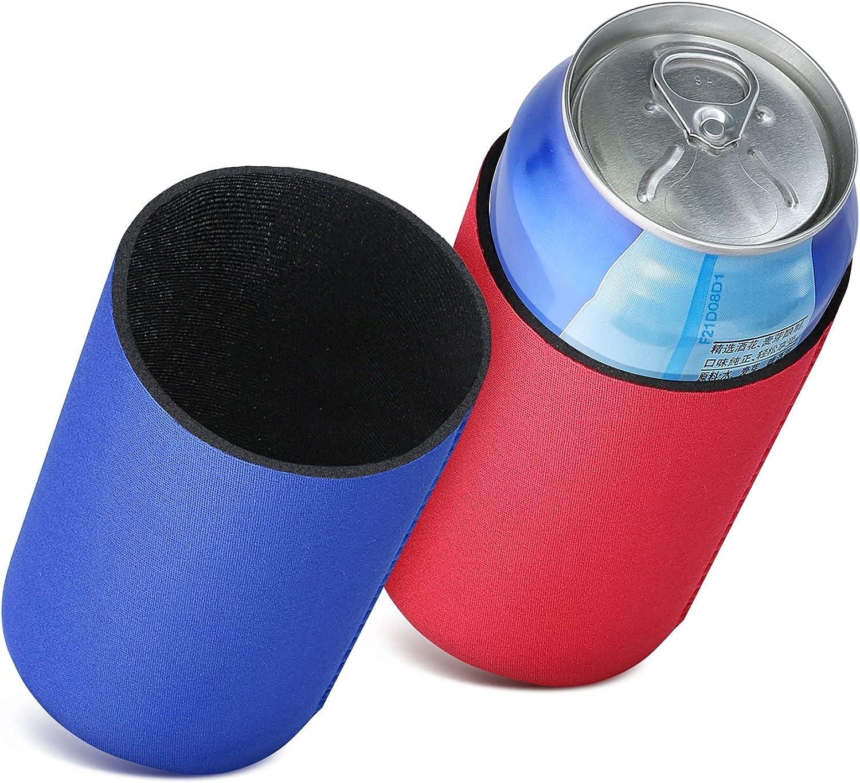kwmobile Fundas de Neopreno compatibles con 330ml Can -2X Cubierta enfriadora de latas Cerveza refresco Rojo/Azul Oscuro