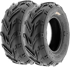 Pair of 2 SunF A004 ATV Go-Karts 16x7-8 AT off-road Tires, Trail & Track, 6 PR, Tubeless