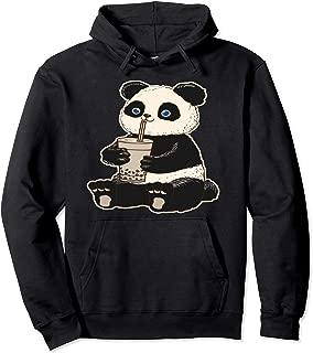Panda Bear Bubble Tea Boba Animal Drink Giant Sweatshirt Pullover Hoodie